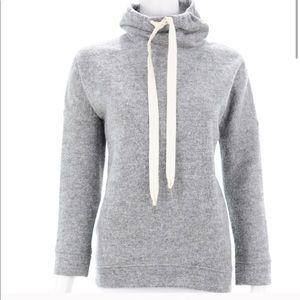 J Crew - Wool Blend Mock Neck Sweatshirt